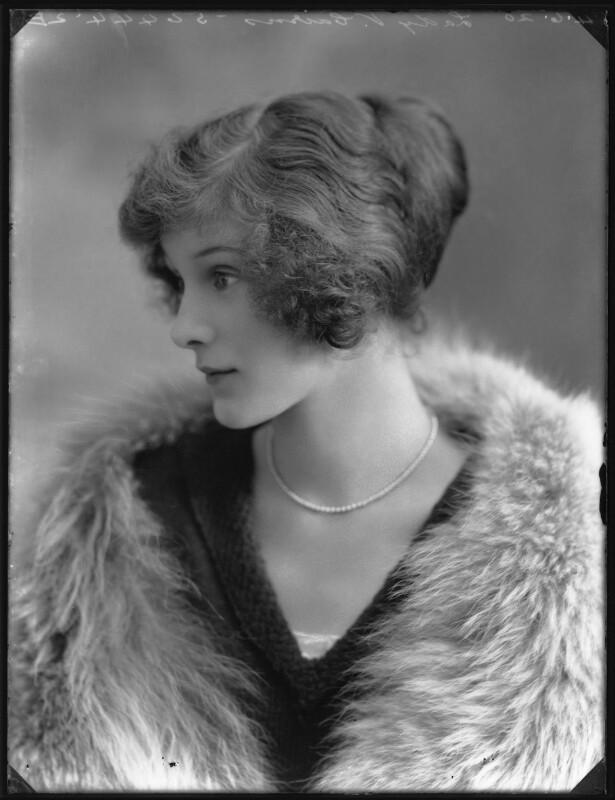 Lady Ursula Helen Abbey (née Cairns), by Bassano Ltd, 4 June 1920 - NPG x120642 - © National Portrait Gallery, London