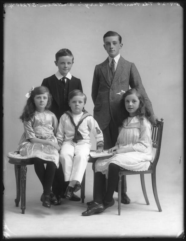 The Cary family, by Bassano Ltd, 6 September 1920 - NPG x75195 - © National Portrait Gallery, London