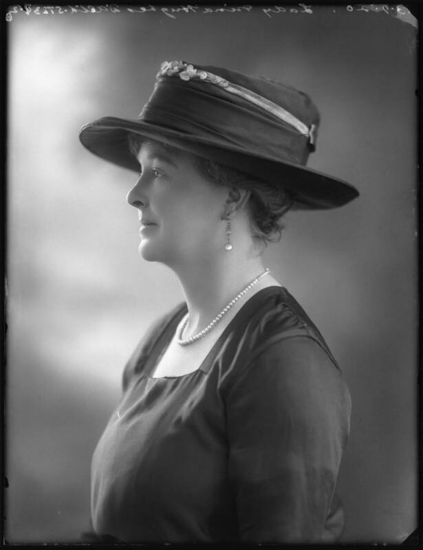 Lady Selina Marguerite Hughes D'Aeth (née Gathorne-Hardy), by Bassano Ltd, 13 September 1920 - NPG x75207 - © National Portrait Gallery, London