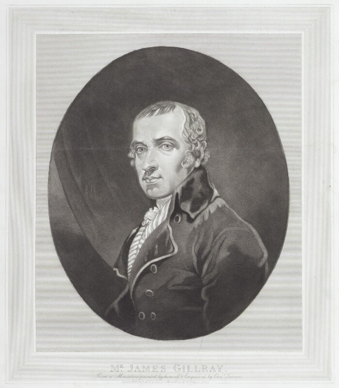 James Gillray, by Charles Turner, published by  George Humphrey, after  James Gillray, published 19 April 1819 (circa 1800) - NPG D12275 - © National Portrait Gallery, London