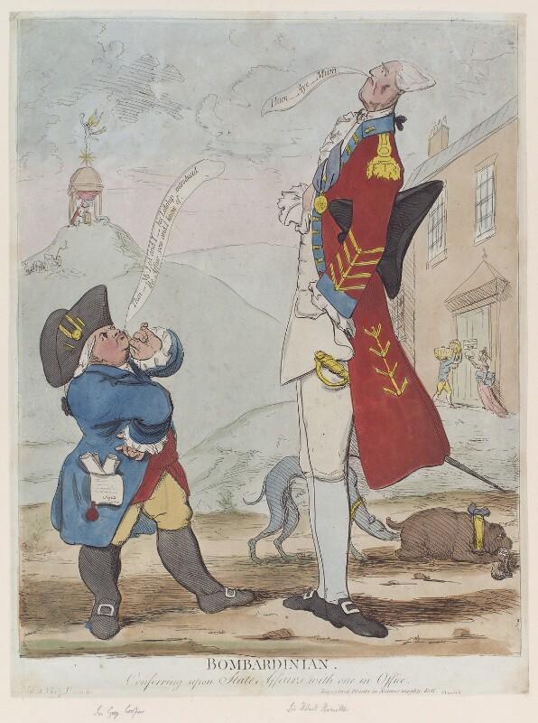 'Bombardinian' (Sir Grey Cooper; Sir Robert Hamilton, 4th Bt), by James Gillray, 1779? - NPG D12281 - © National Portrait Gallery, London