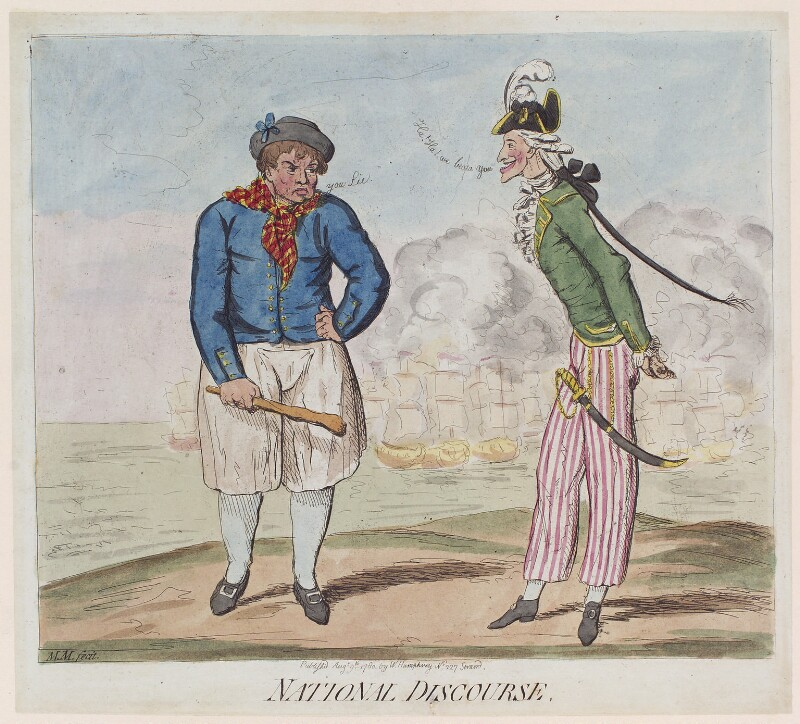'National discourse', probably by James Gillray, published by  William Humphrey, published 9 August 1780 - NPG D12287 - © National Portrait Gallery, London