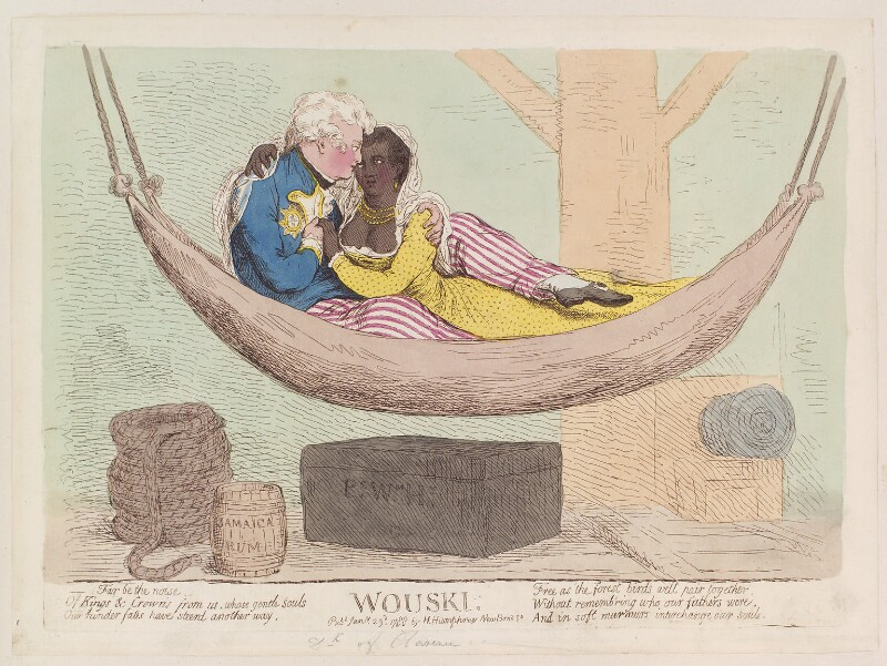 King William IV ('Wouski'), by James Gillray, published by  Hannah Humphrey, published 23 January 1788 - NPG D12290 - © National Portrait Gallery, London
