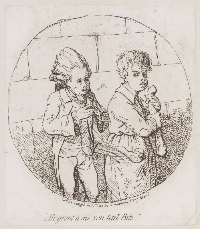 'Ah, grant a me von letel bite', by James Gillray, published by  William Humphrey, published 1 December 1780 - NPG D12291 - © National Portrait Gallery, London