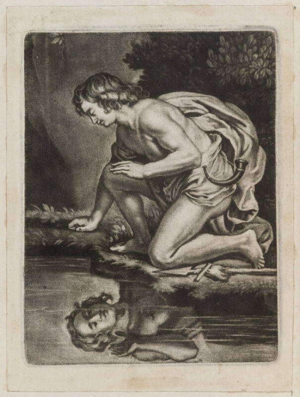 Narcissus, published by John Smith, after  Sir Peter Paul Rubens, 1683 - NPG D11838 - © National Portrait Gallery, London