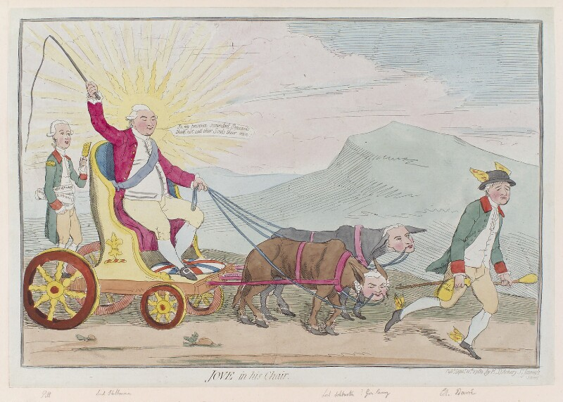 'Jove in his chair', by James Gillray, published by  Elizabeth d'Achery, published 11 September 1782 - NPG D12315 - © National Portrait Gallery, London