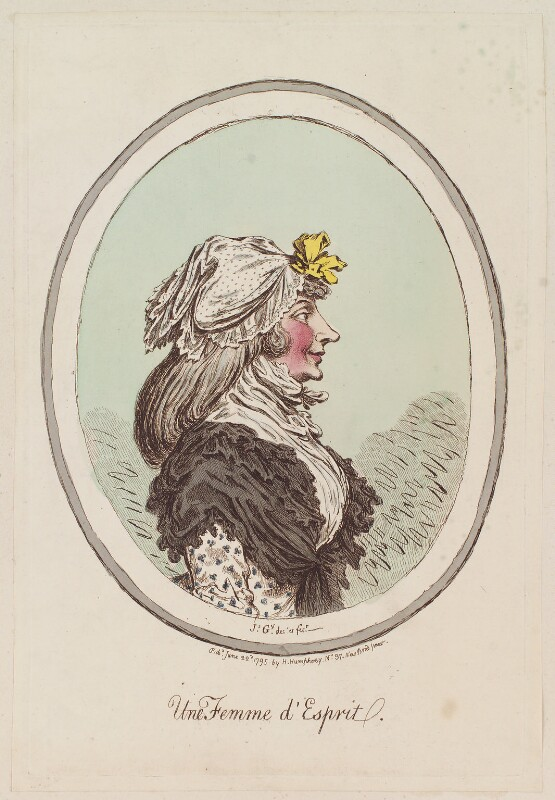 'Une femme d'esprit', by James Gillray, published by  Hannah Humphrey, published 22 June 1795 - NPG D12327 - © National Portrait Gallery, London