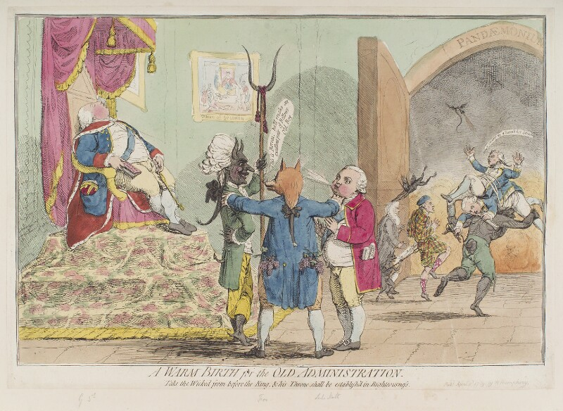'A warm birth for the old administration', by James Gillray, published by  William Humphrey, published 2 April 1783 - NPG D12332 - © National Portrait Gallery, London