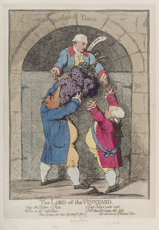 'The lord of the vineyard', by James Gillray, published by  William Humphrey, published 3 April 1783 - NPG D12333 - © National Portrait Gallery, London