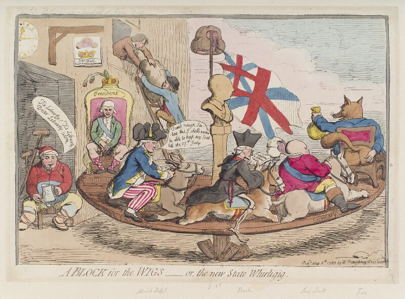 'A block for the wigs - or, the new state whirligig', by James Gillray, published by  William Humphrey, published 5 May 1783 - NPG D12340 - © National Portrait Gallery, London