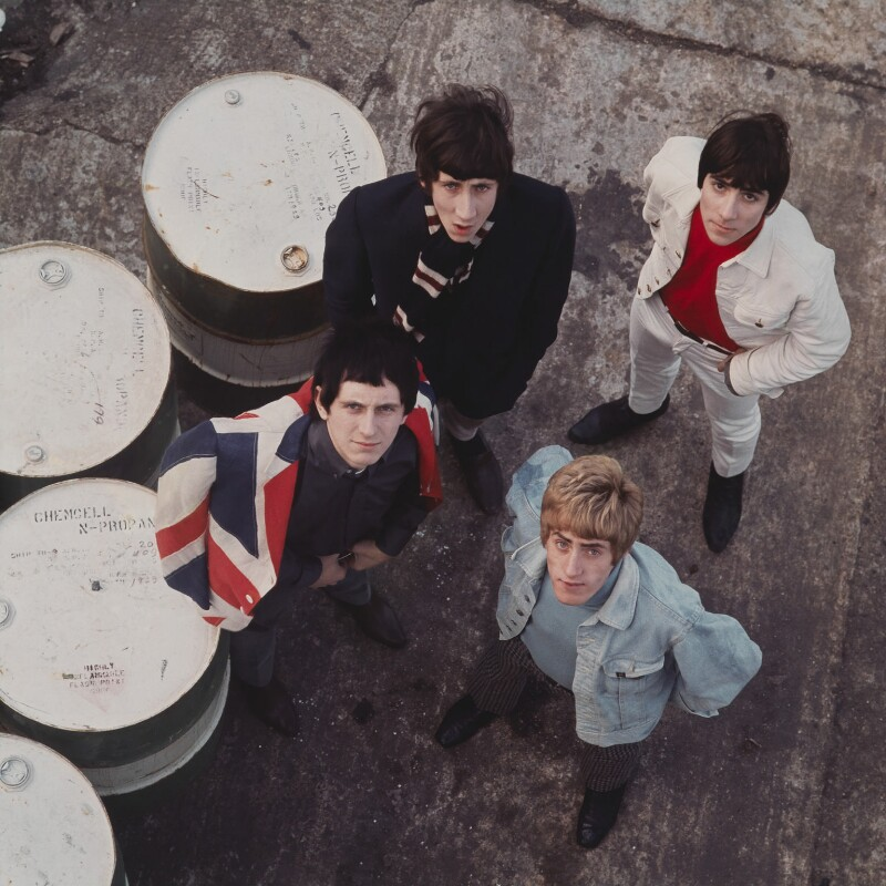 The Who (Pete Townshend; Keith Moon; Roger Daltrey; John Entwistle), by David Wedgbury, 1965 - NPG x76440 - © National Portrait Gallery, London