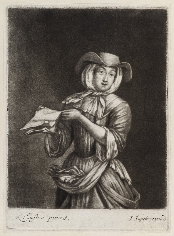 Ballad singer, published by John Smith, after  Laureys (Lorenzo) a Castro, circa 1683-1729 - NPG D11857 - © National Portrait Gallery, London