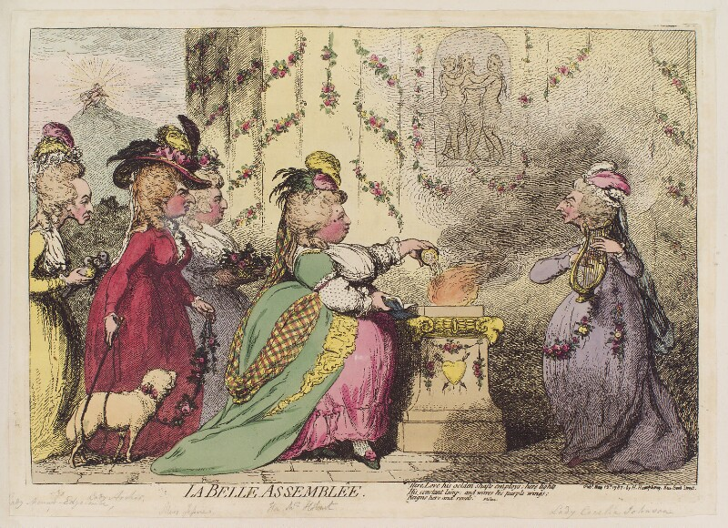 'La belle assemblêe', by James Gillray, published by  Hannah Humphrey, published 12 May 1787 - NPG D12361 - © National Portrait Gallery, London