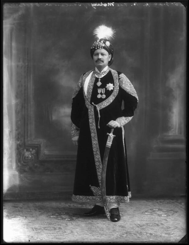 Sir Bhawani Singh Bahadur, Maharaja Rana of Jhalawar, by Bassano Ltd, 25 September 1920 - NPG x96765 - © National Portrait Gallery, London