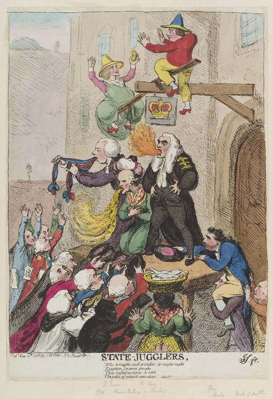 'State-jugglers', by James Gillray, published by  Samuel William Fores, published 16 May 1788 - NPG D12381 - © National Portrait Gallery, London