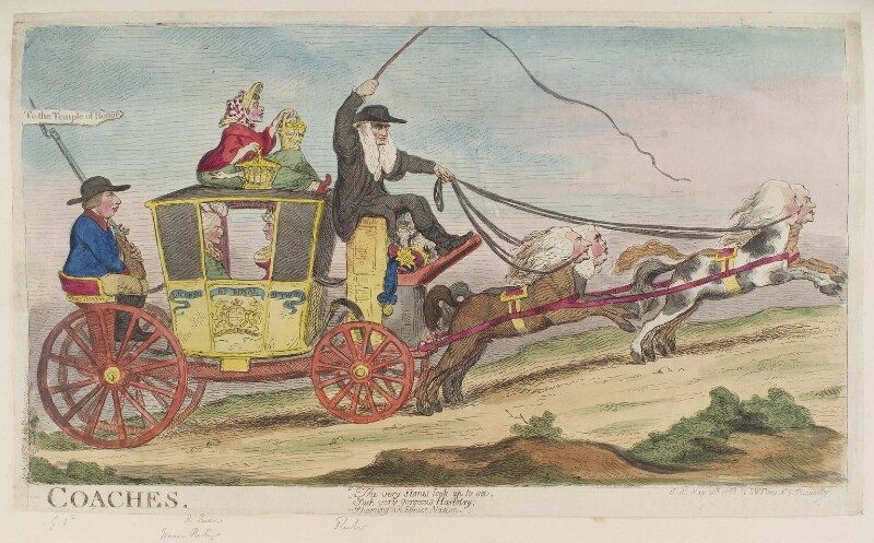 '-Coaches', by James Gillray, published by  Samuel William Fores, published 20 May 1788 - NPG D12383 - © National Portrait Gallery, London
