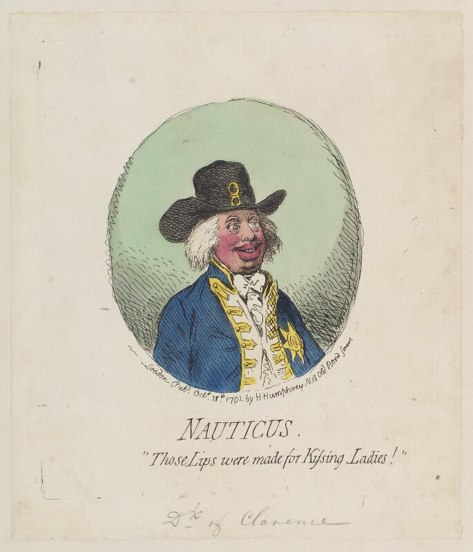 King William IV ('Nauticus'), by James Gillray, published by  Hannah Humphrey, published 11 October 1791 - NPG D12394 - © National Portrait Gallery, London