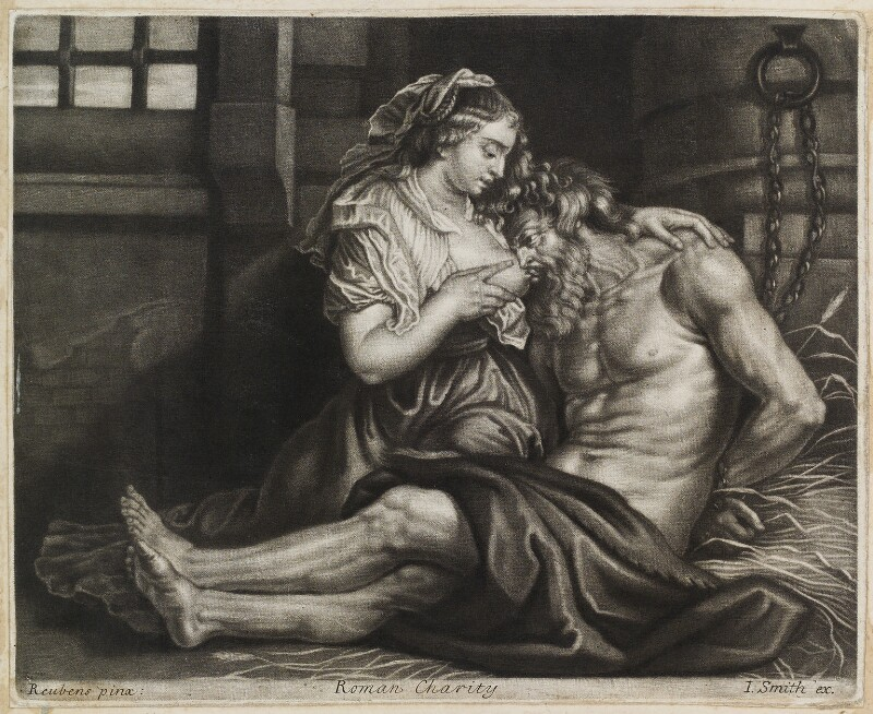 Roman Charity, published by John Smith, after  Sir Peter Paul Rubens, circa 1683-1729 - NPG D11904 - © National Portrait Gallery, London