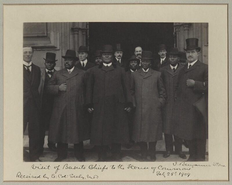 'Visit of Basuto Chiefs to the House of Commons', by Sir (John) Benjamin Stone, 25 February 1909 - NPG x30033 - © National Portrait Gallery, London
