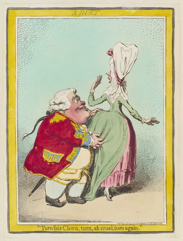 'A duet' (Thomas Vanhagen?), by James Gillray, published by  Hannah Humphrey, published 14 May 1792 - NPG D12452 - © National Portrait Gallery, London