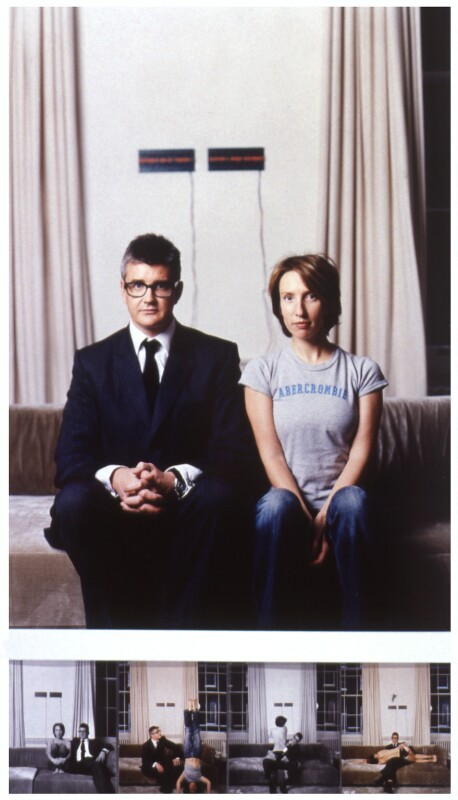 Jay Jopling; Sam Taylor-Johnson (Sam Taylor-Wood), by Jillian Edelstein, 8 November 2001 - NPG x125407 - © National Portrait Gallery, London