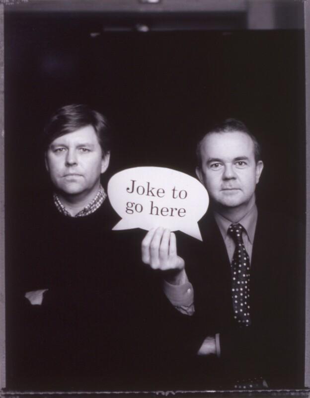 Nick Newman; Ian Hislop, by Jillian Edelstein, 29 November 2001 - NPG x125409 - © National Portrait Gallery, London