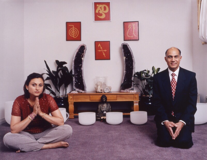 Meena Pathak; Kirit Pathak, by Tom Miller, 21 December 2001 - NPG x125416 - © National Portrait Gallery, London