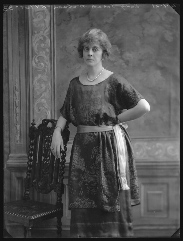 Lady Sarah Isabella Augusta Wilson (née Spencer-Churchill) (née Spencer Churchill), by Bassano Ltd, 4 January 1921 - NPG x36680 - © National Portrait Gallery, London