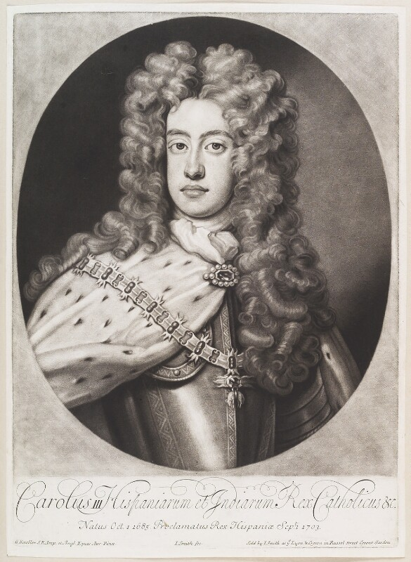 Charles VI, Holy Roman Emperor, by and published by John Smith, after  Sir Godfrey Kneller, Bt, 1703 (1703) - NPG D11648 - © National Portrait Gallery, London