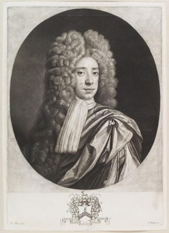 Sir John Crispe, 3rd Bt, by John Smith, after  Thomas Hill, 1705 - NPG D11650 - © National Portrait Gallery, London