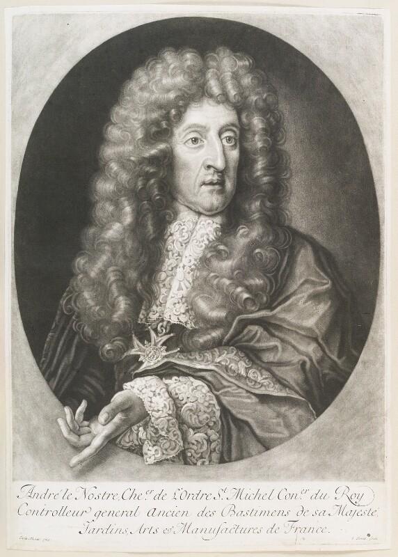 André Le Nôtre (Le Nostre), by John Smith, after  Carlo Maratta, 1699 - NPG D11663 - © National Portrait Gallery, London