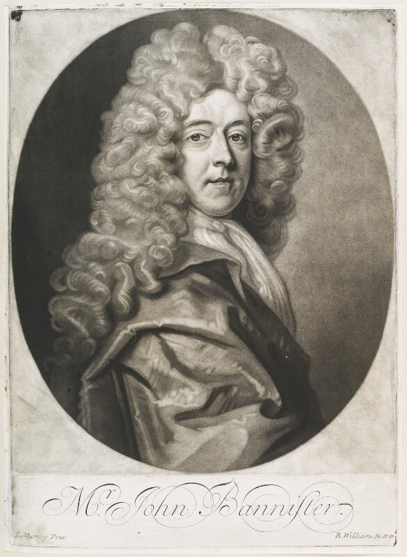 John Banister, by and published by Robert Williams, after  Thomas Murray, late 17th century - NPG D11669 - © National Portrait Gallery, London
