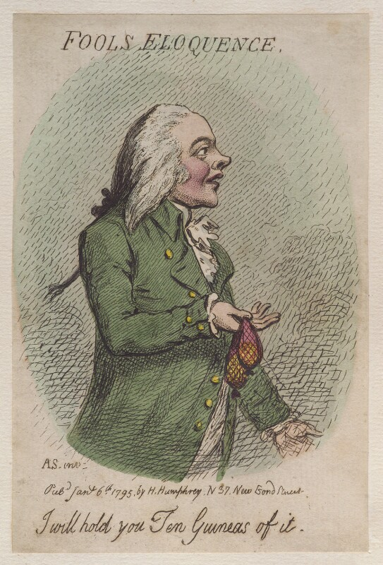 'Fools eloquence', by James Gillray, published by  Hannah Humphrey, published 6 January 1795 - NPG D12505 - © National Portrait Gallery, London