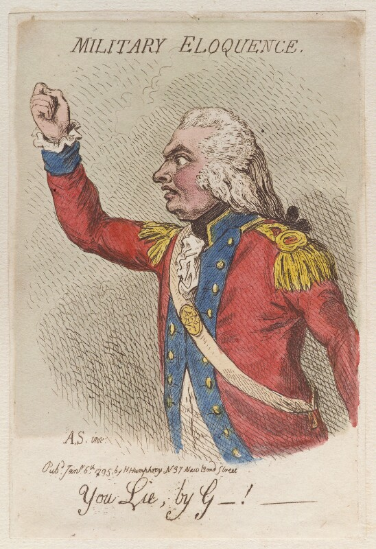 'Military eloquence', by James Gillray, published by  Hannah Humphrey, published 6 January 1795 - NPG D12506 - © National Portrait Gallery, London