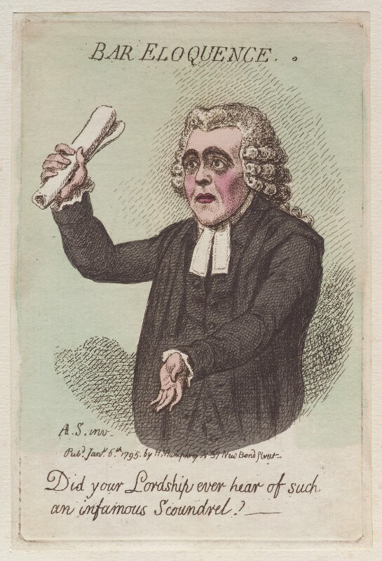 'Bar eloquence', by James Gillray, published by  Hannah Humphrey, published 6 January 1795 - NPG D12510 - © National Portrait Gallery, London