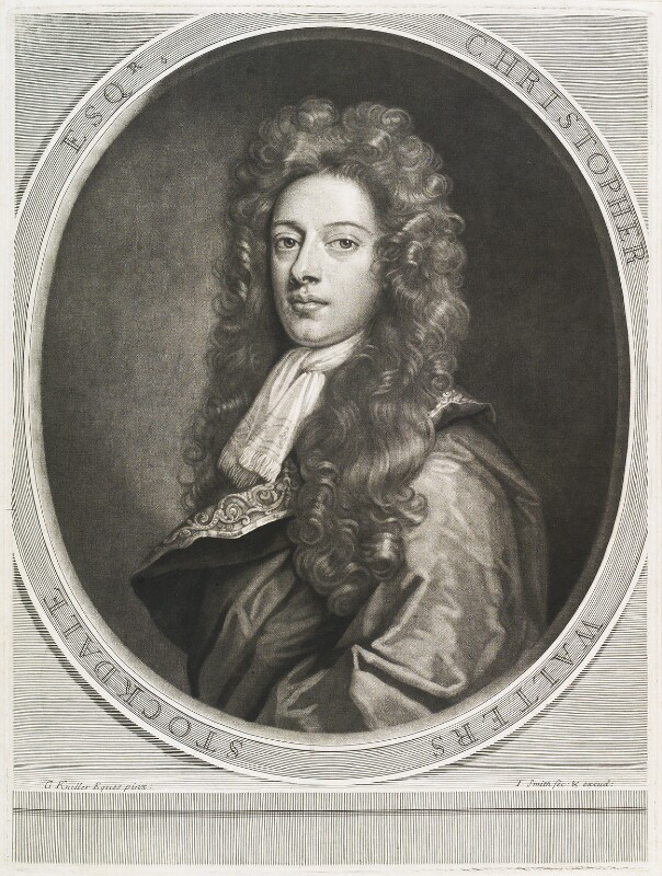 Christopher Walters Stockdale, by and published by John Smith, after  Sir Godfrey Kneller, Bt, 1693 (circa 1690) - NPG D11679 - © National Portrait Gallery, London