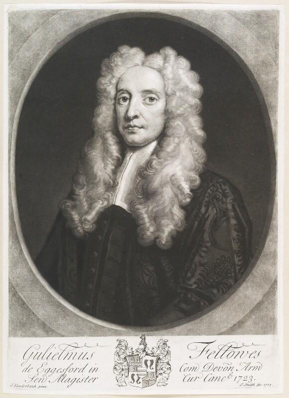 William Fellowes, by John Smith, after  John Vanderbank, 1723 - NPG D11688 - © National Portrait Gallery, London