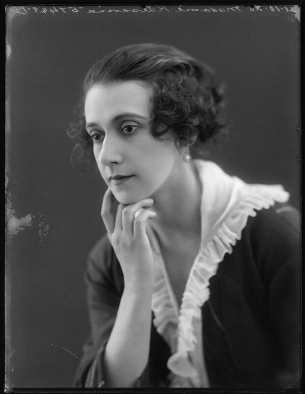 Tamara Karsavina, by Bassano Ltd, 21 October 1920 - NPG x101080 - © National Portrait Gallery, London