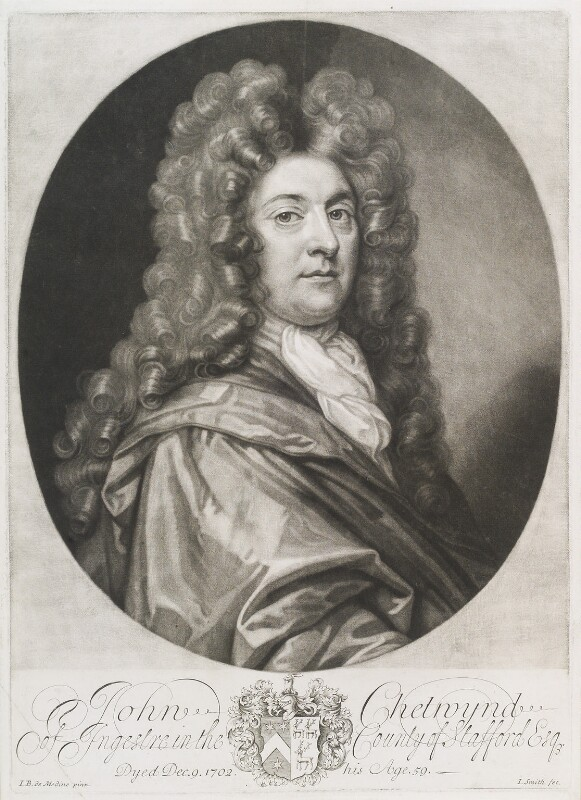 John Chetwynd, by John Smith, after  Sir John Baptist De Medina, 1705 - NPG D11702 - © National Portrait Gallery, London