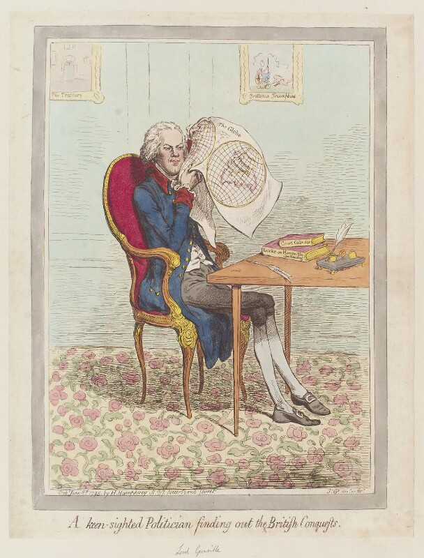 William Wyndham Grenville, 1st Baron Grenville, by James Gillray, published by  Hannah Humphrey, published 8 June 1795 - NPG D12529 - © National Portrait Gallery, London