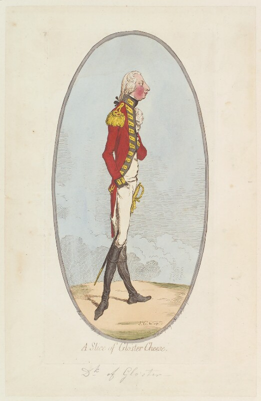William Frederick, 2nd Duke of Gloucester ('A slice of Glo'ster cheese'), by James Gillray, published by  Hannah Humphrey, published 29 June 1795 - NPG D12534 - © National Portrait Gallery, London