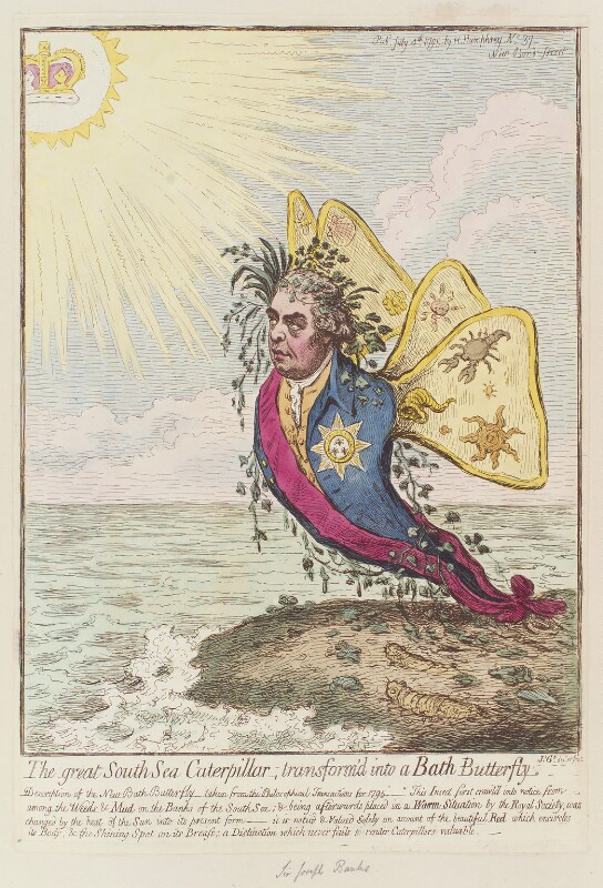 Sir Joseph Banks, Bt, by James Gillray, published by  Hannah Humphrey, published 4 July 1795 - NPG D12540 - © National Portrait Gallery, London