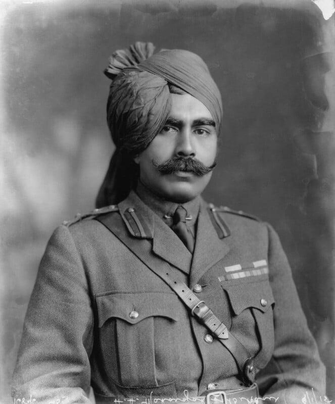 Ganga Singh, Maharaja of Bikaner, by Vandyk, 9 January 1915 - NPG x74763 - © National Portrait Gallery, London