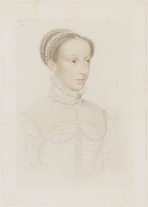 Mary, Queen of Scots, by Adolphe Pierre Riffaut, after  François Clouet, published 1848 - NPG D13123 - © National Portrait Gallery, London
