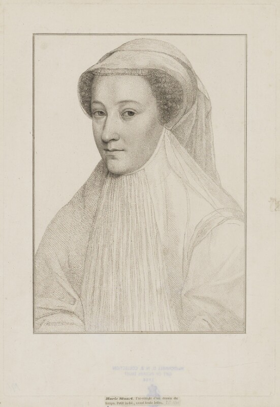 Mary, Queen of Scots, by Francesco Bartolozzi, after  François Clouet, late 18th-early 19th century - NPG D13124 - © National Portrait Gallery, London