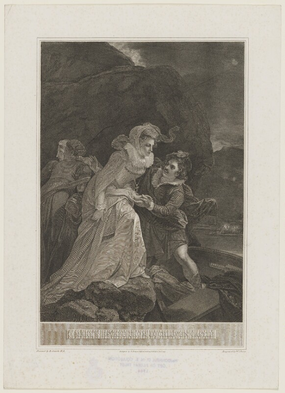 Q. Mary's Escape from Lochleven Castle (Mary, Queen of Scots), by William Sharp, after  Robert Smirke, published 1795 - NPG D13128 - © National Portrait Gallery, London