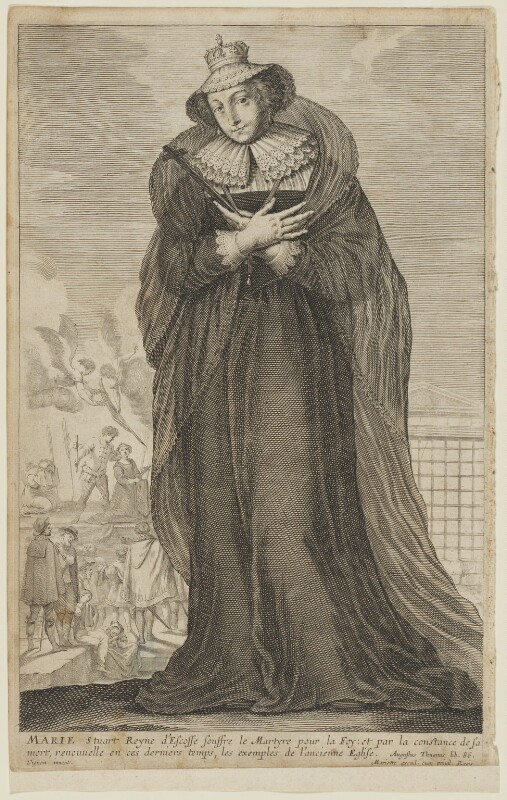 Mary, Queen of Scots, after Claude Vignon, mid 17th century - NPG D13129 - © National Portrait Gallery, London