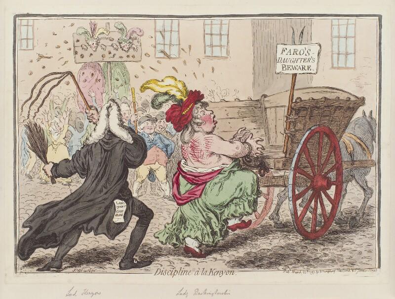 'Discipline à la Kenyon', by James Gillray, published by  Hannah Humphrey, published 25 March 1797 - NPG D12605 - © National Portrait Gallery, London