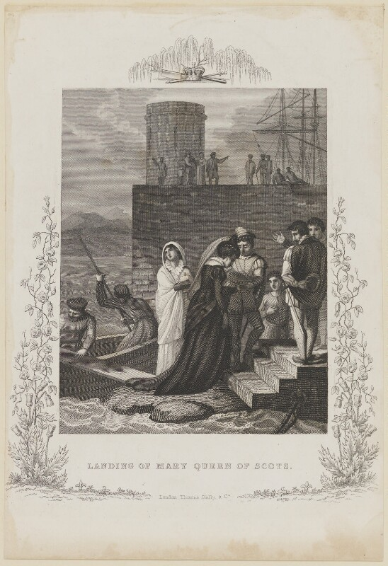 'Landing of Mary, Queen of Scots', by John Dadley, published by  Thomas Kelly, after  Robert Smirke, early 19th century - NPG D13132 - © National Portrait Gallery, London