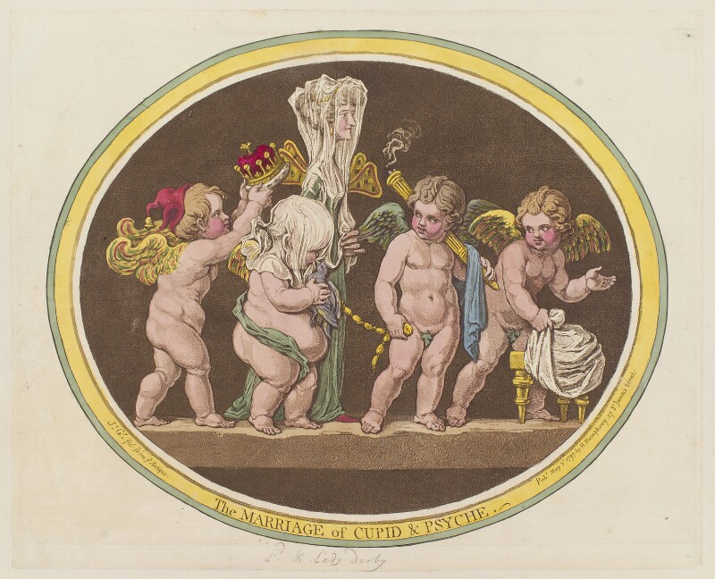 'The marriage of Cupid and Psyche', by James Gillray, published by  Hannah Humphrey, published 3 May 1797 - NPG D12612 - © National Portrait Gallery, London